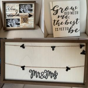 3 Decor Signs/Frames for $18